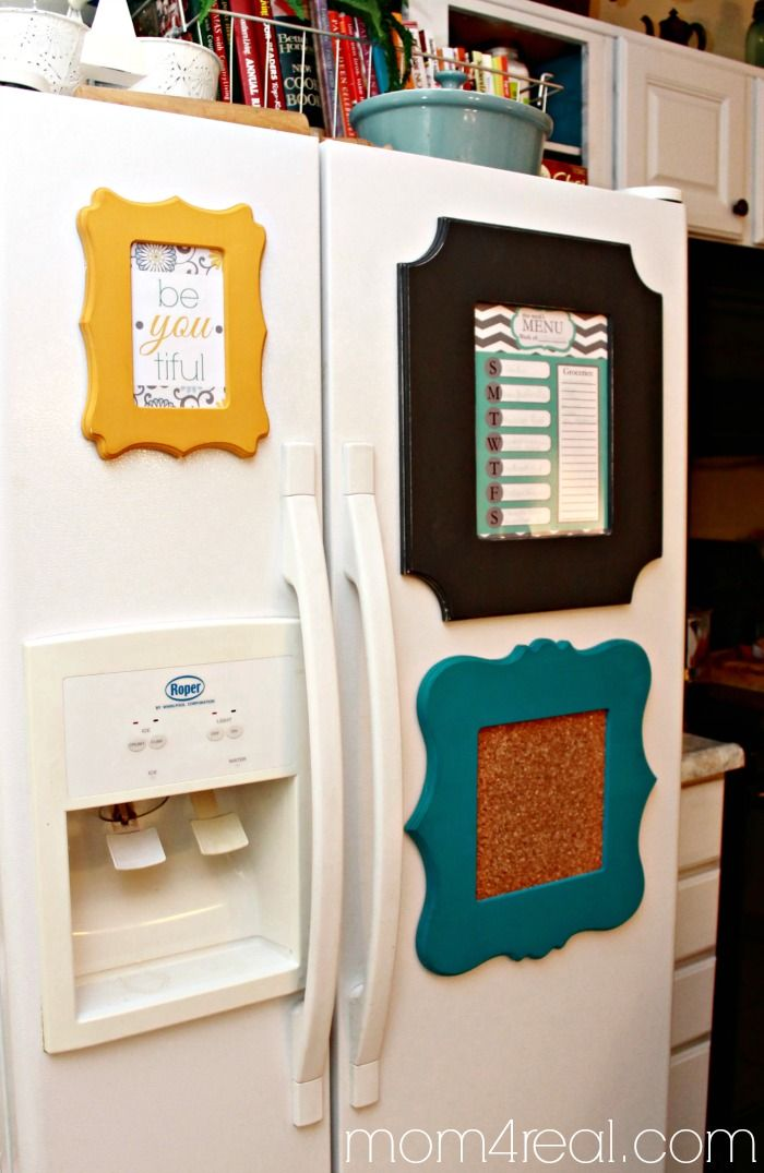Primp Your Fridge with Cut It Out Frames | Pinterest | Refrigerator ...