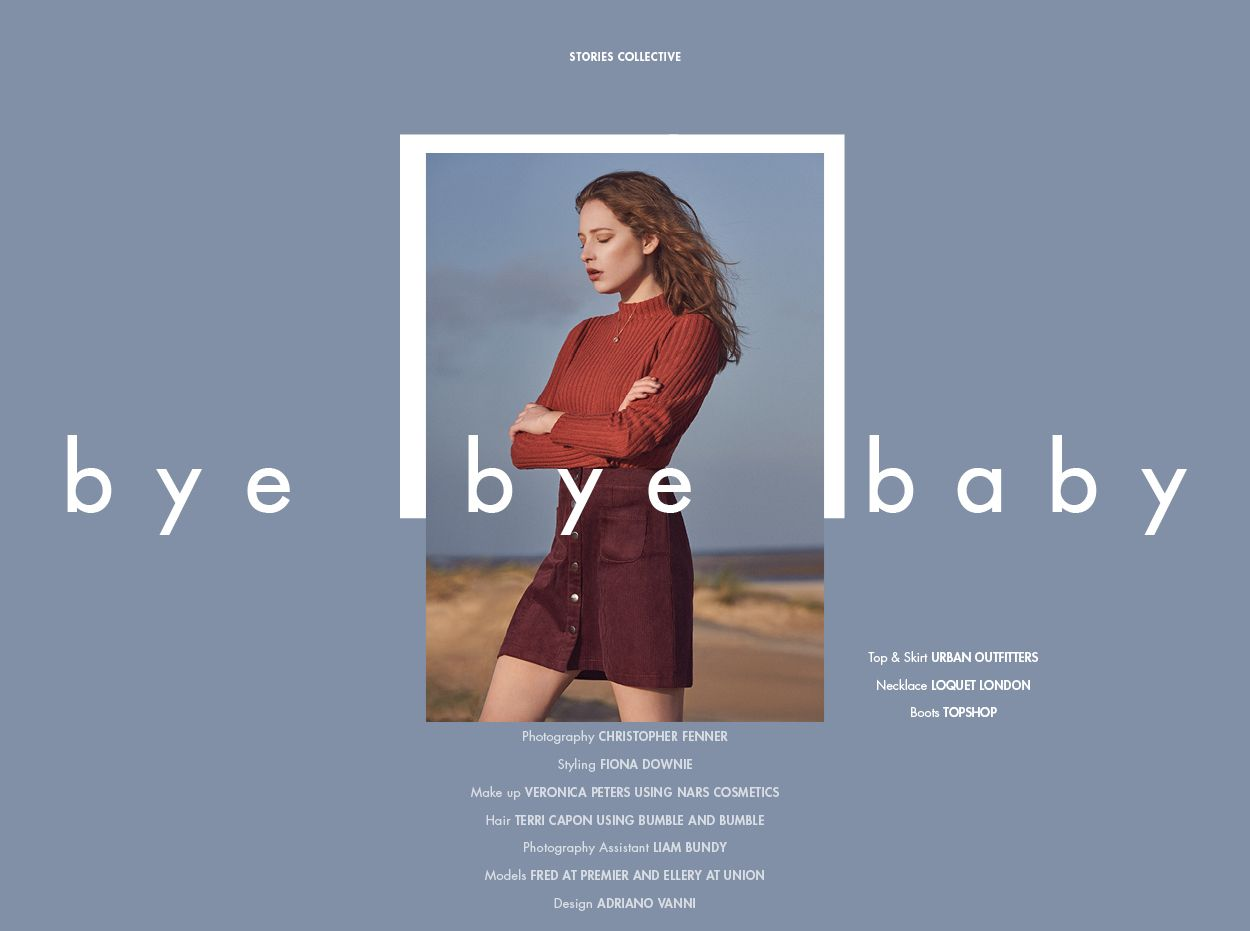 On The Road - Bye Bye Baby - 1 #editoriallayout