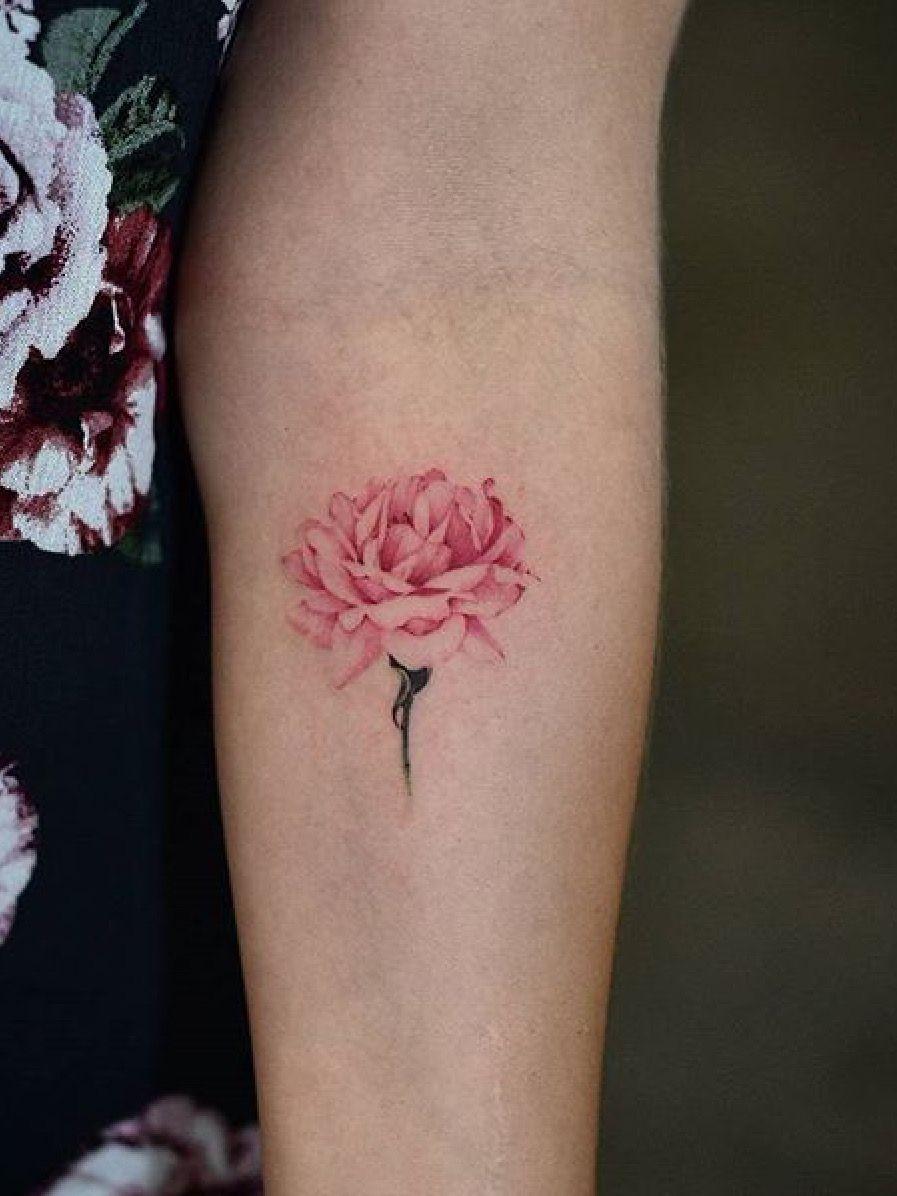 Pin On Peony Tattoo