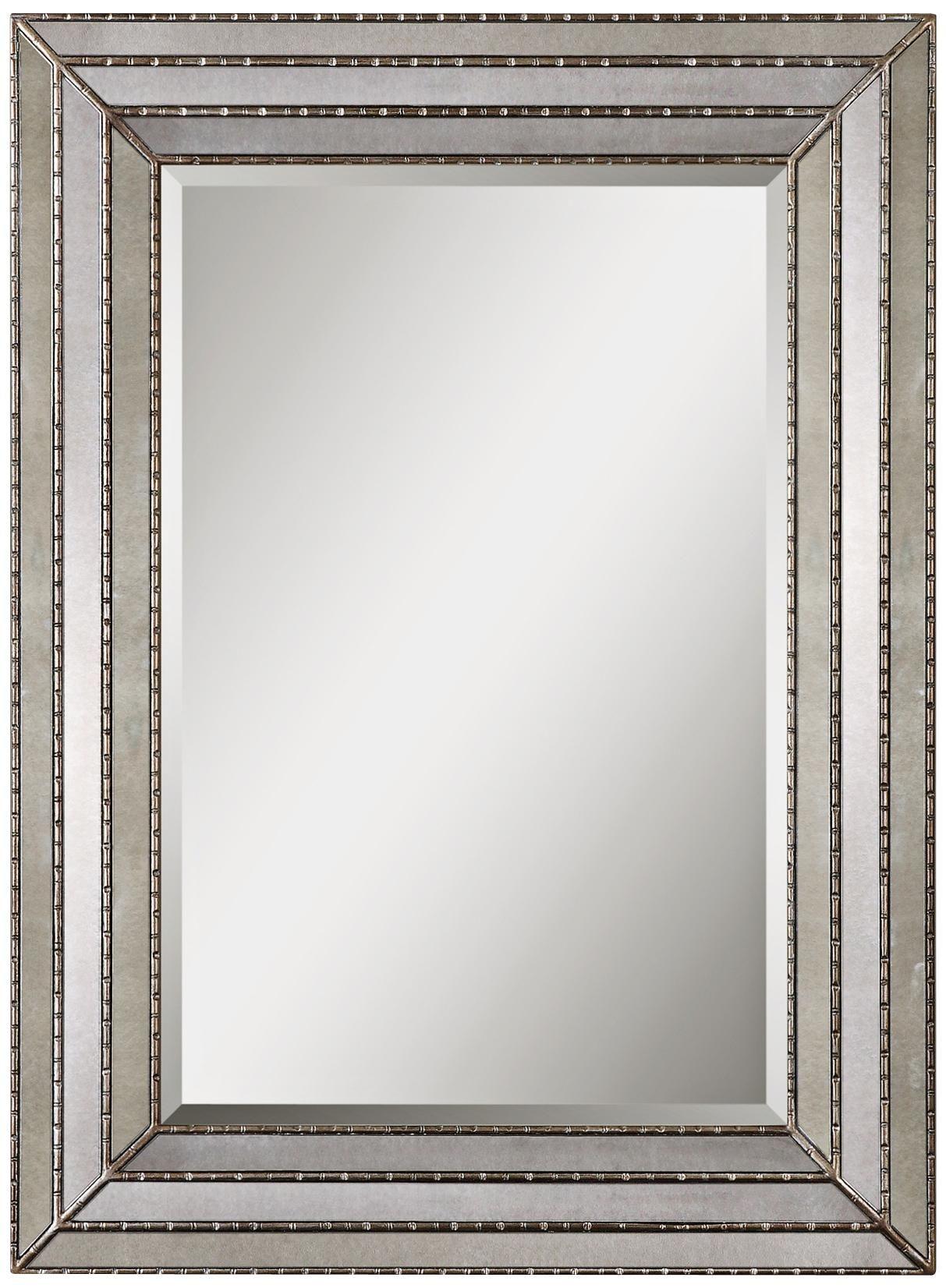Uttermost Seymour 46 3 4 High Rectangular Wall Mirror Y5560 Lamps Plus Silver Antique Mirror Antique Mirror Glass Antique Mirror Frame