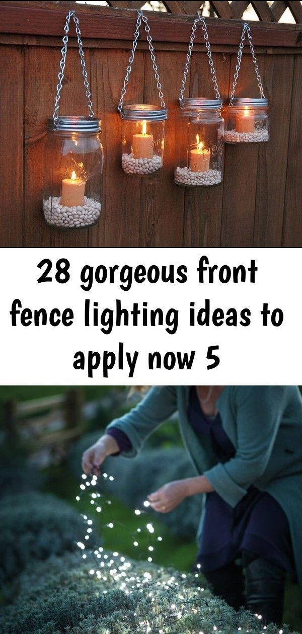 28 gorgeous front fence lighting ideas to apply now 5 Hoselink Blog Inspiration Enchanted Gardens Love the mix of the wire shades with the large white lightbulbs Lush gre...