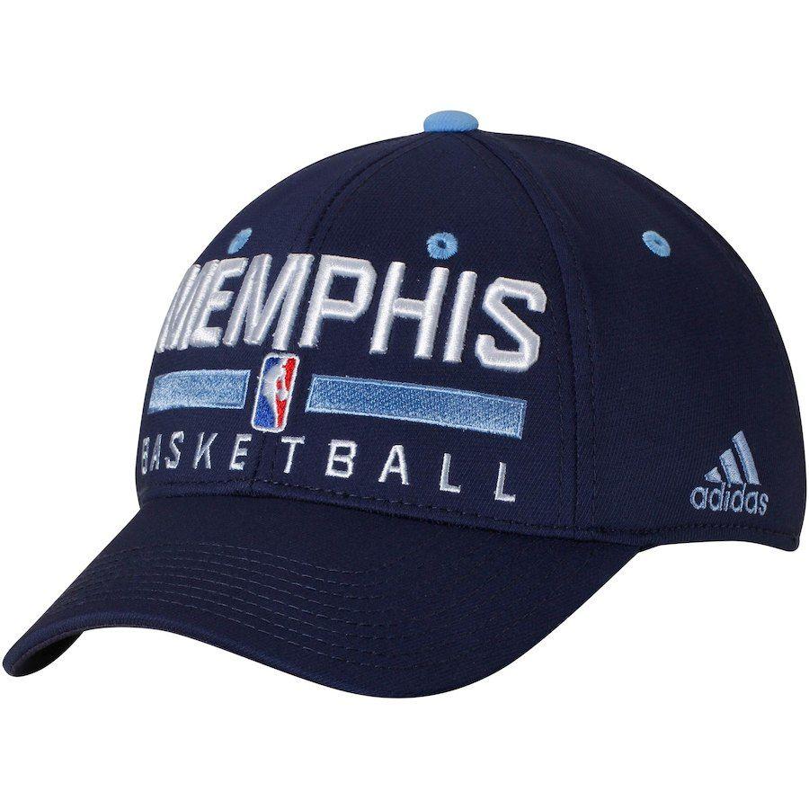 2f5ba71ca3e Men s Memphis Grizzlies adidas Navy Practice Flex Hat