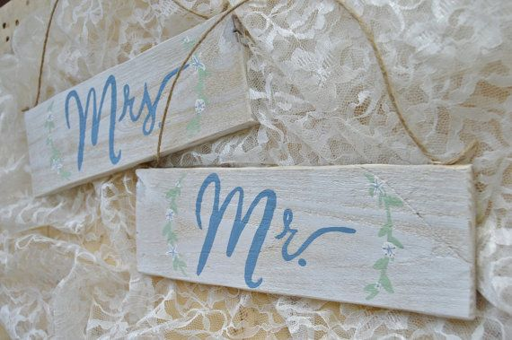 Mr. and Mrs. Chair Signs Original Hand Painted by SeasideLane