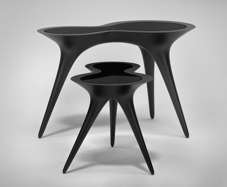 Timothy Schreiber Black Ice Tables richlite material Wexler Gallery ...