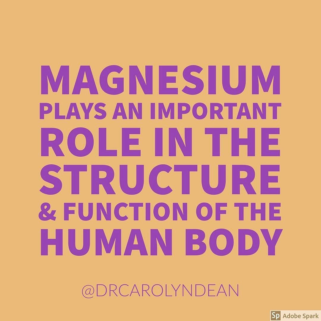 Healthy Life Quotes Magnesium Plays An Important Role In The Structure And Function Of