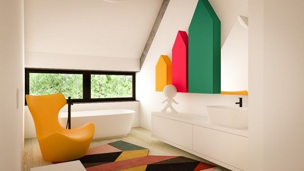 Great 3 Creative Interiors That Utilize Bright Accents