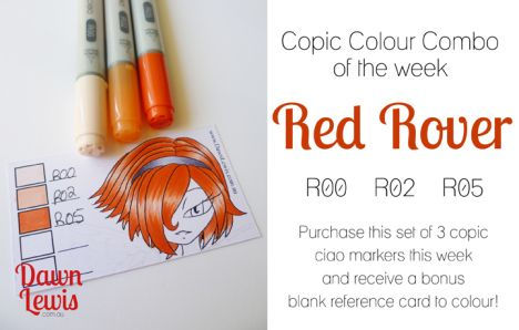 Copic Colour Combo of the week Red Rover