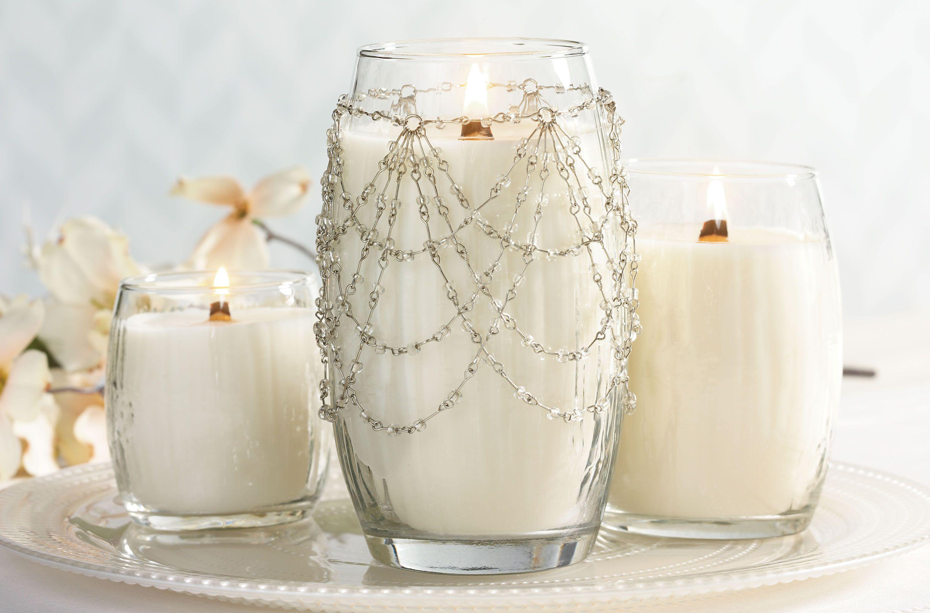 Promise...Soft, dewy petals of white tuberose & gardenia.   Yankee ...