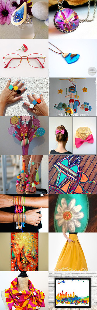 Happiness lies in colors!!! by mariliartbymaria on Etsy--Pinned+with+TreasuryPin.com