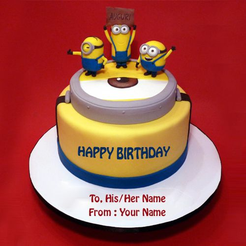 Things I Love Anjali Pinterest Minion theme Birthday cake