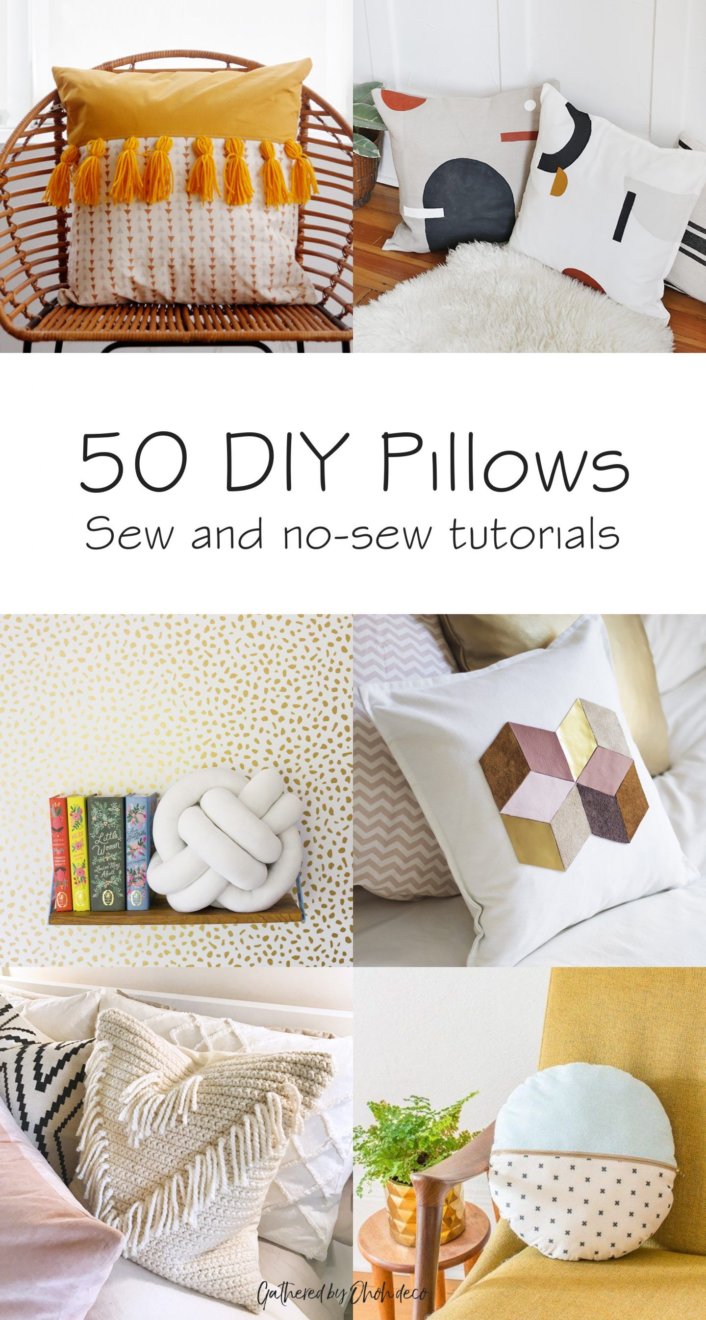 List of Easy DIY Pillows from ohohdeco.com