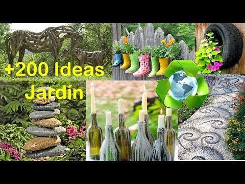 Garden Ideas You Tube reciclado para decorar jardín +200 ideas / recycled for garden +