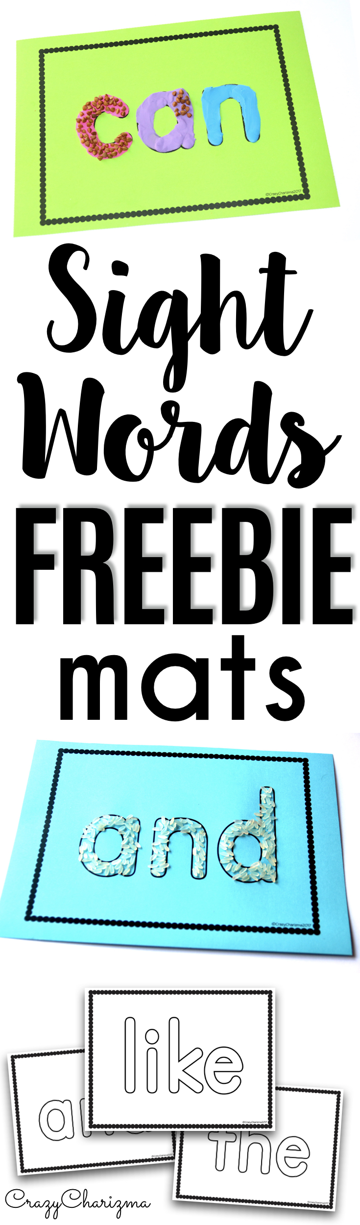 Free Sight Word Activities - MATS - are perfect for preschool ...