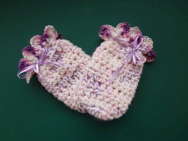 Free Crochet Pattern Easy Peasy Baby Mitts Mittens Pinterest