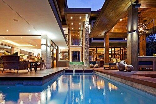Droomhuis prachtige vormgeving outdoor dream living