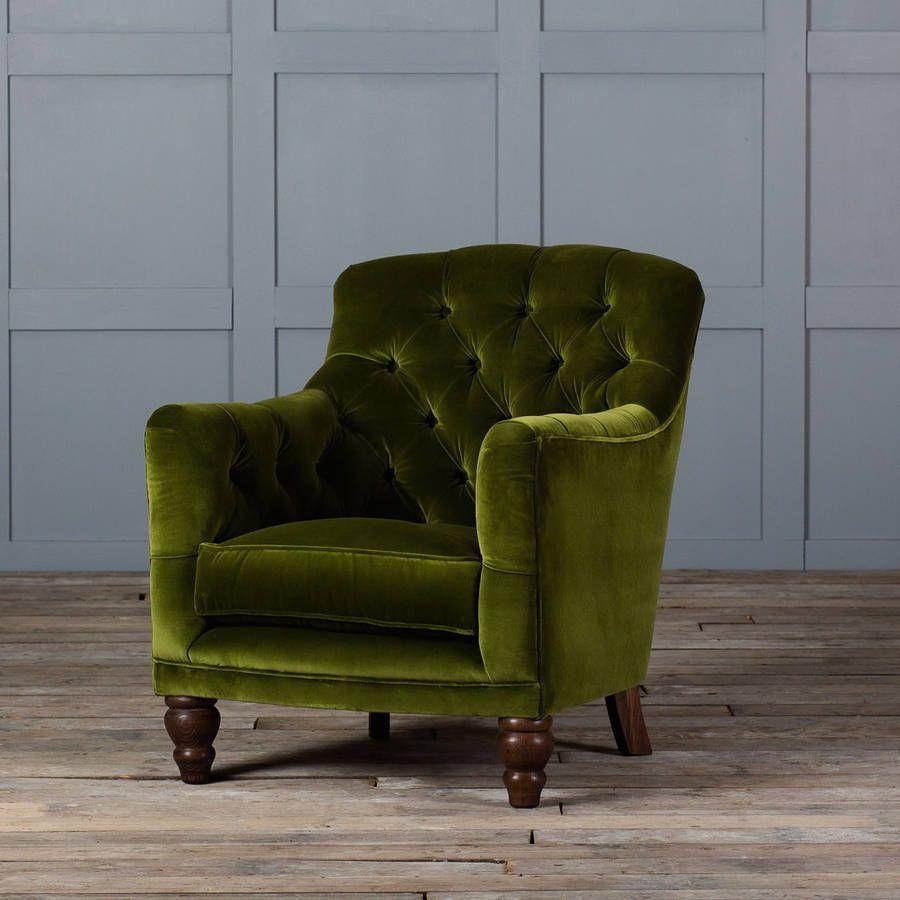 Tufted Glove Velvet Armchair