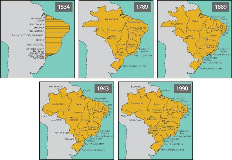 Como Foi Estabelecida A Divisao Dos Estados Brasileiros Com