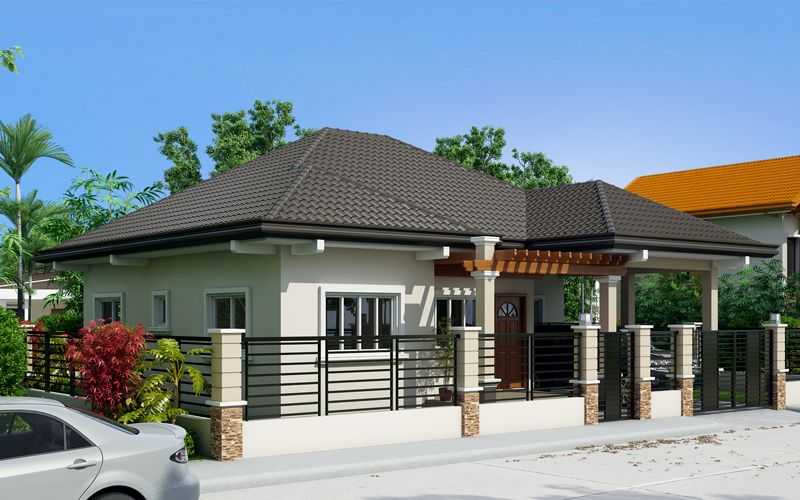 Clarissa one story house with elegance pinoy eplans for Eplans modern homes