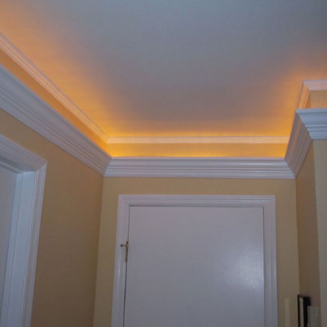 Crown molding that lights up my ee husband loves this for 9 inch crown molding