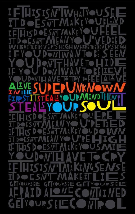 LyricArt: Soundgarden Alive in the Superunknown by ...