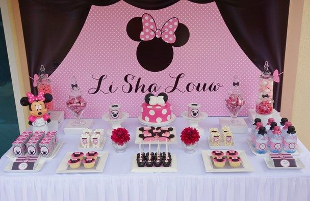 We Heart Parties:  Minnie Mouse Sweet Table