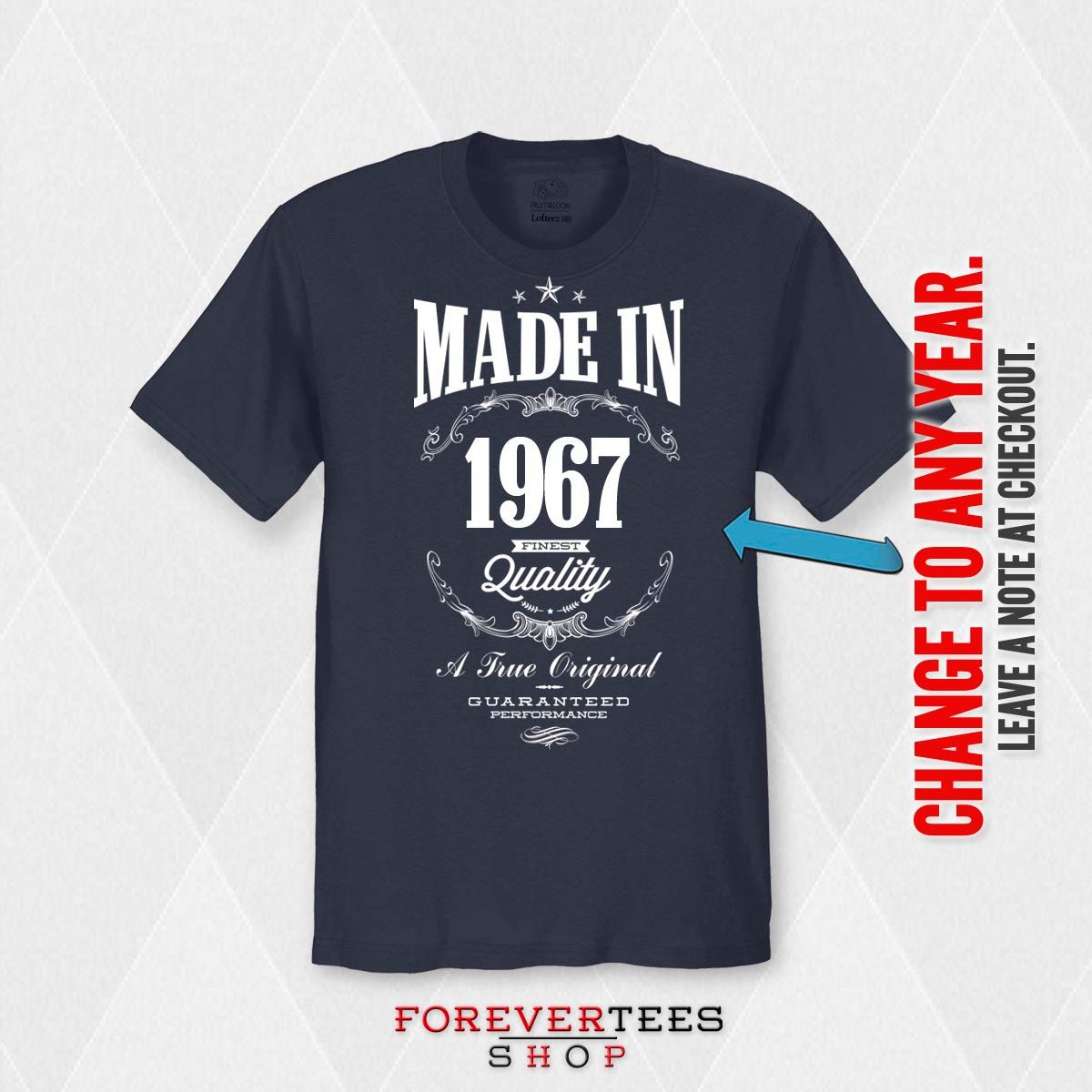 50th birthday made in 1967 50th birthday by ForeverTeesShop