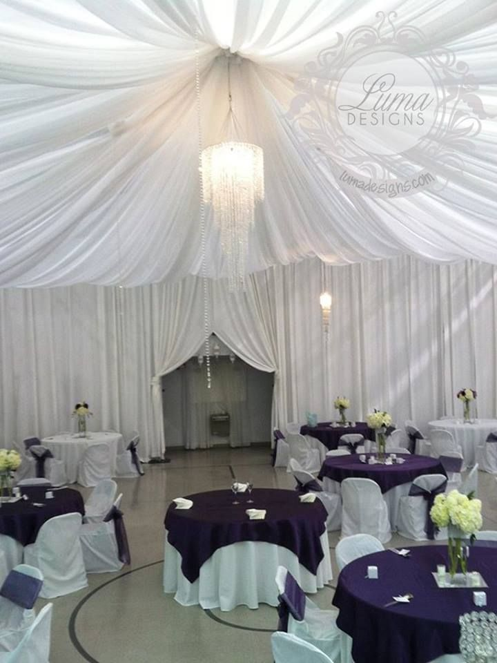 Another Fantastic Wedding Draping Project From Luma Designs Even The Walls Are Draped And The Entrance Is Classically Pulled Open For The Guests Their Work