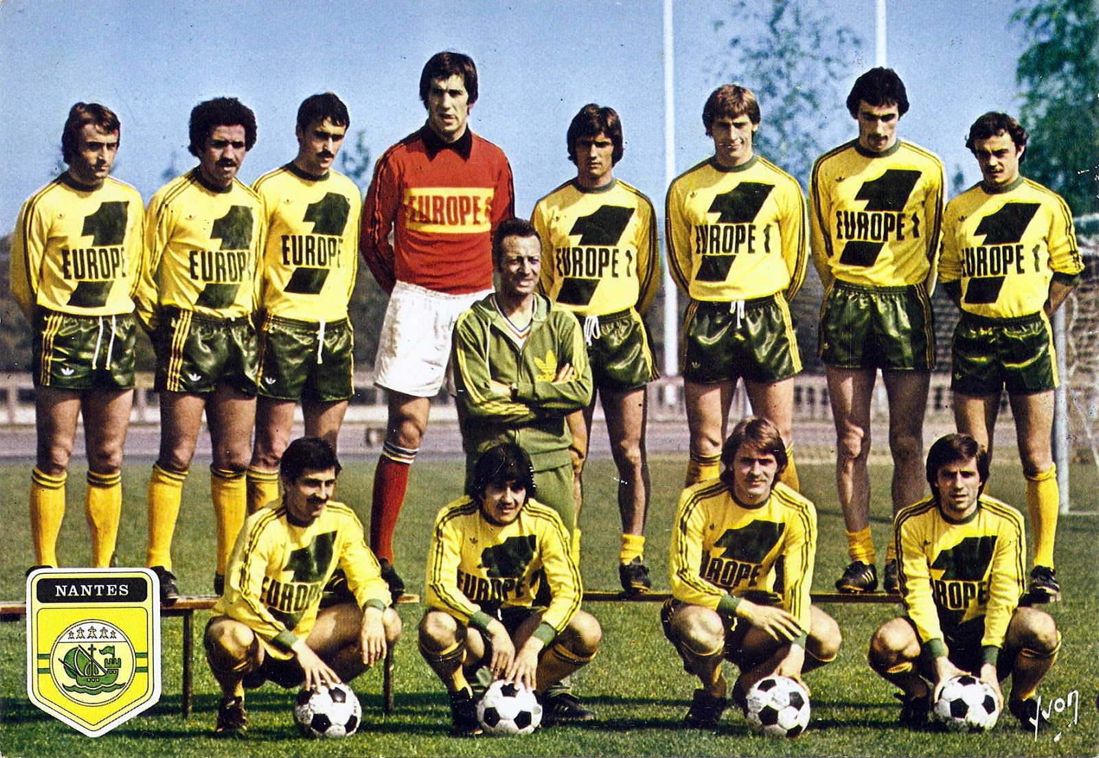 F.C NANTES 197778 Debouts Raynald Denoueix, Omar