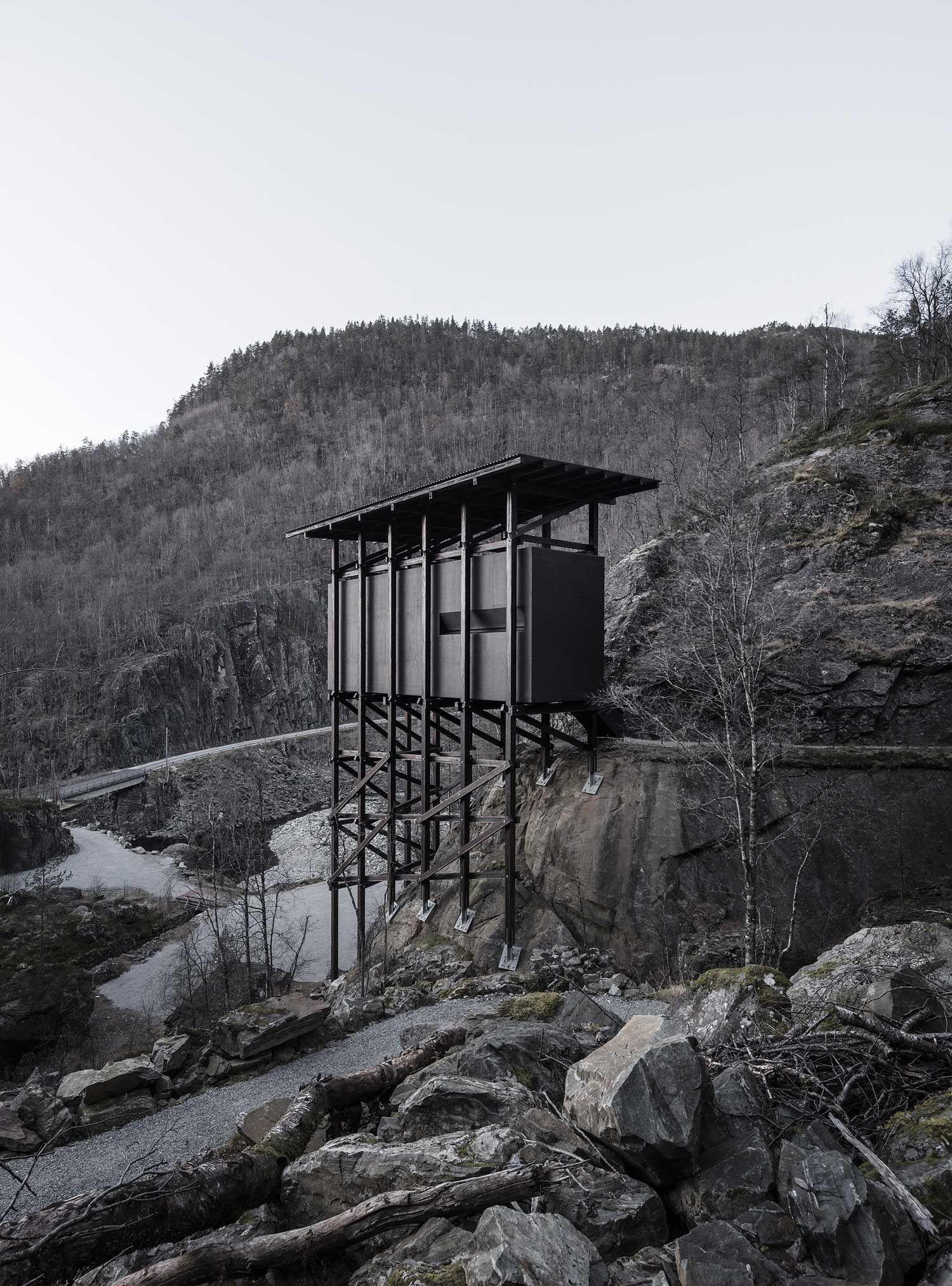 Peter Zumthor\'s Allmannajuvet Zinc Mine Museum in Sauda, Norway.