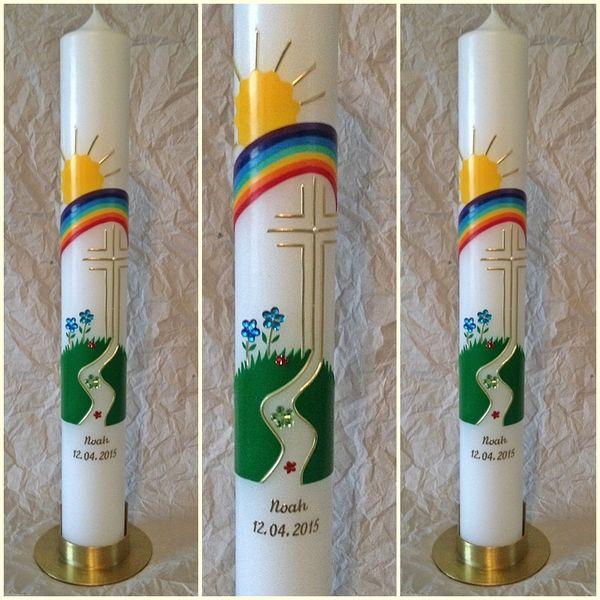 Kommunionkerze 400 50mm Der Weg Kommunionkerze Erstkommunion Kerze Kommunionskerze Basteln