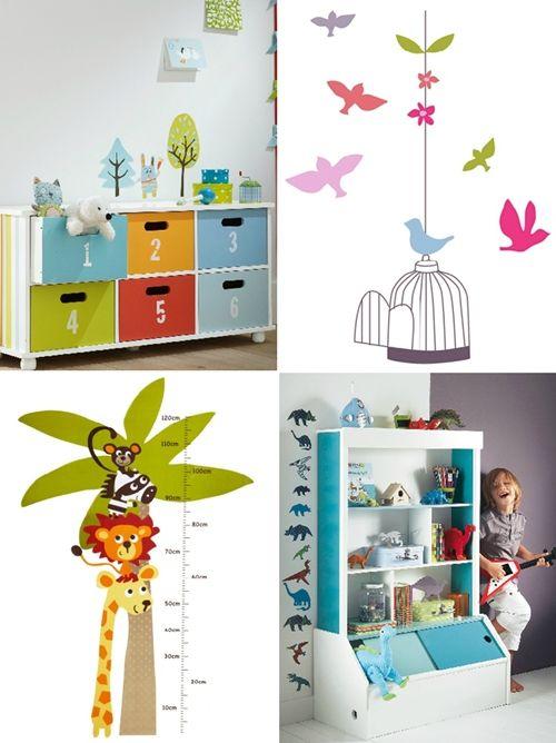 Vinilos infantiles de flores y animales escaparate for Pegatinas para dormitorios