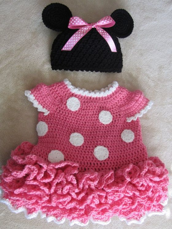Minnie Mouse Dress Crochet Pattern Beb Moni Pinterest Minnie