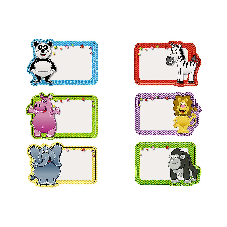 Zoo Animal Name Tags - OrientalTrading.com | school | Pinterest ...