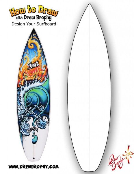 Design Your Own Surfboard Free Art Template For Kids In 2020 Surfboard Art Free Art Art Template