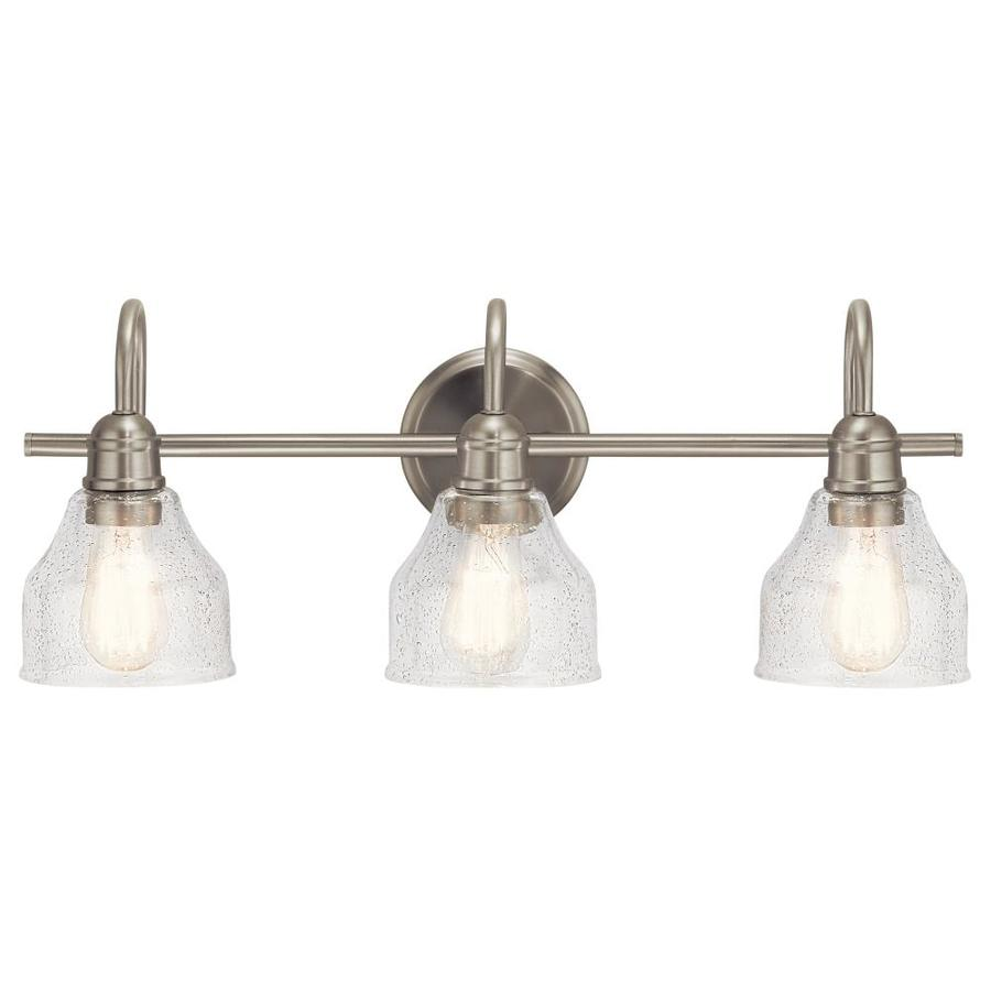 Kichler Avery 3Light 24in Brushed Nickel Bell Vanity