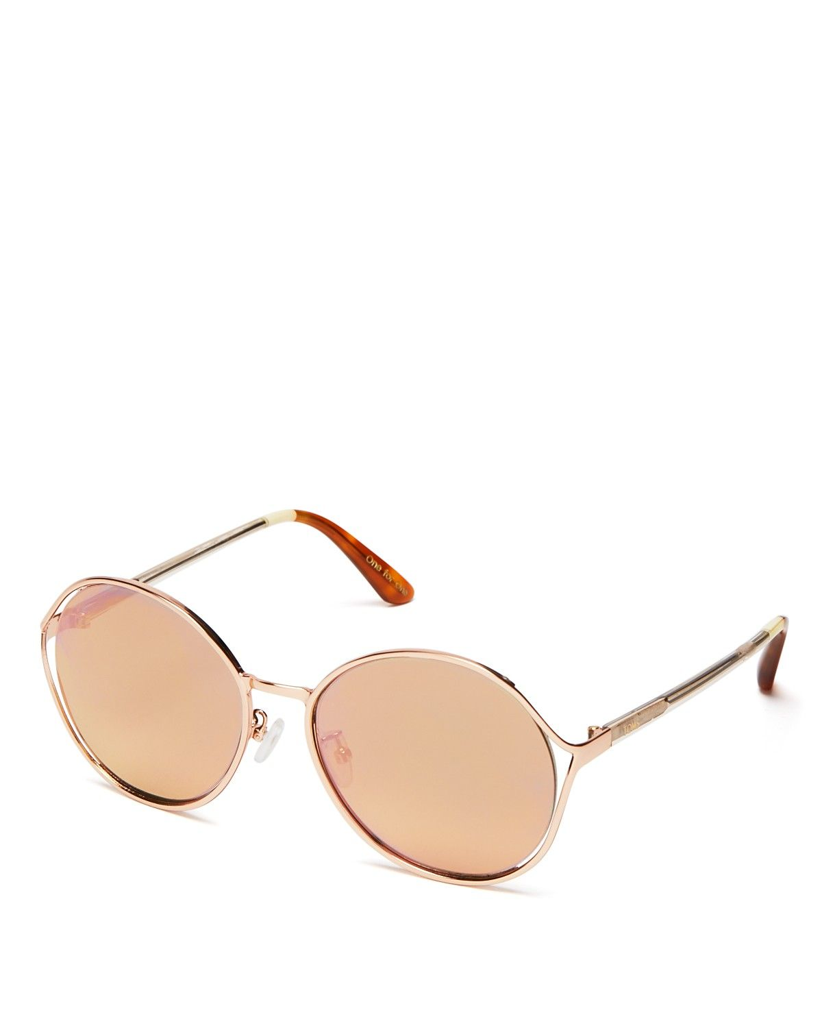 A Pretty Mix Of Round Frames And Rosy Mirrored Lenses Make
