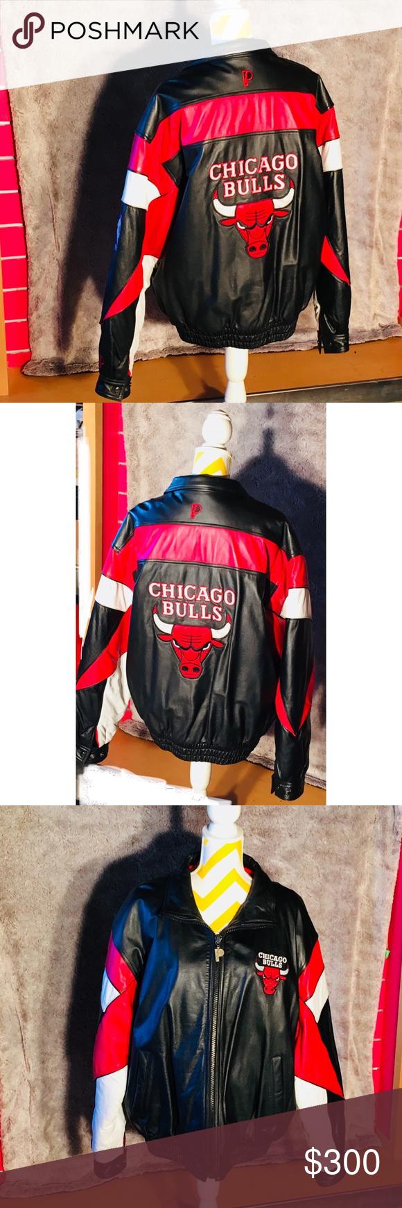 Vintage Pristine 80's Chicago Bulls Leather jacket Near