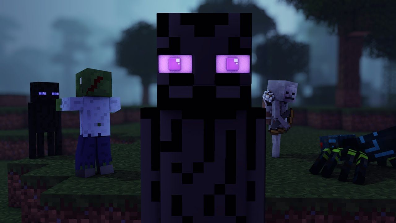 Enderman Life 3 A New Step Minecraft Animation Part 3 Youtube Animation Minecraft Green Gang