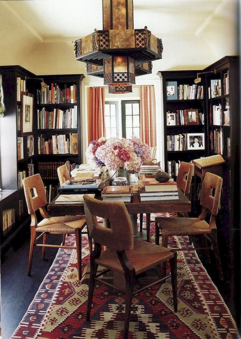 Interior Design Library Room: 58+ Stunning Library Room Design Ideas With Eclectic Decor