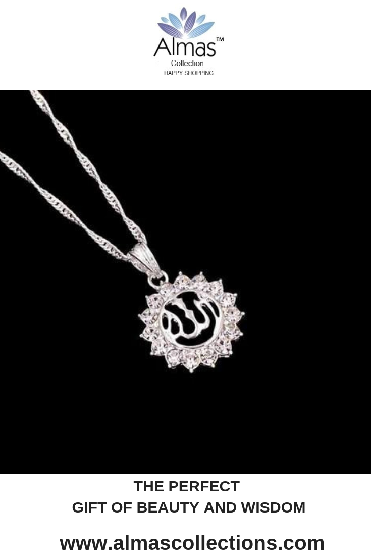 3436285873 Allah, Sunflower Silver-color Pendant Necklace IS1 in 2019 | Islamic ...