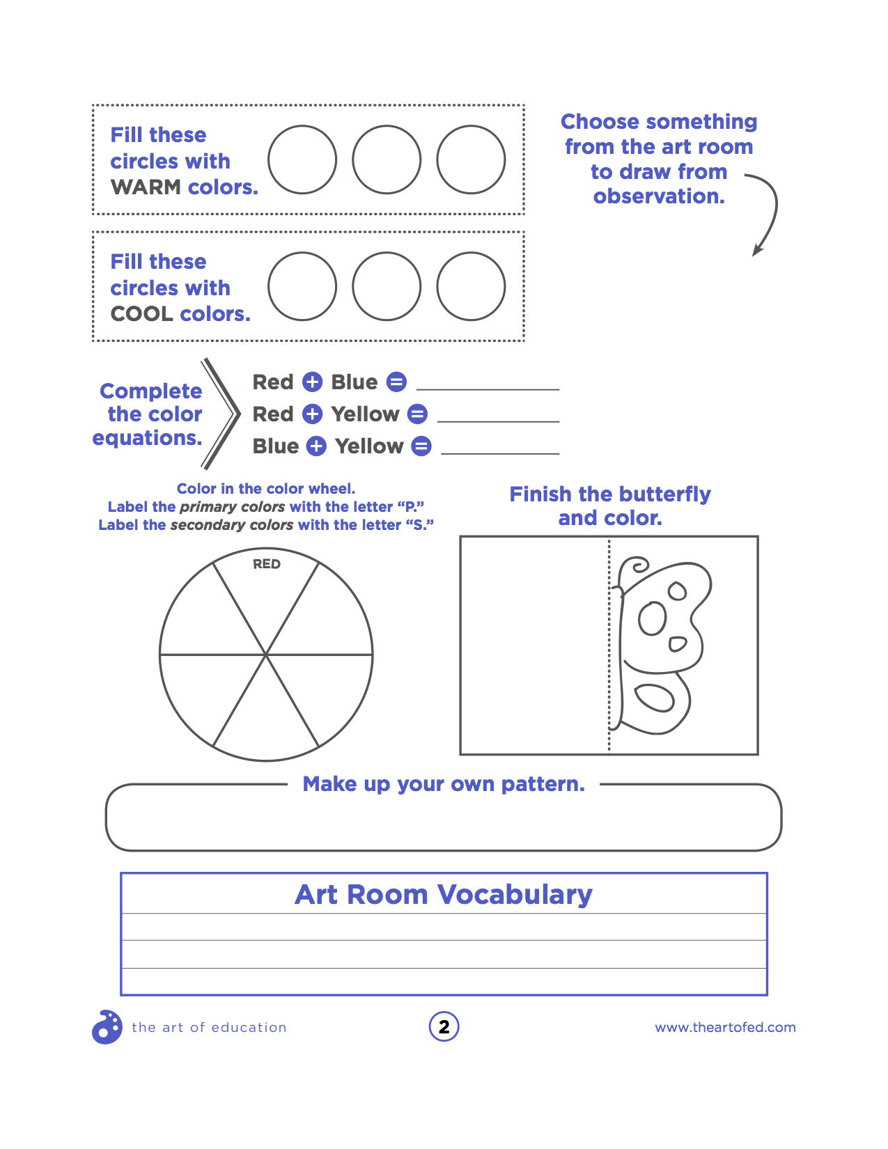 small resolution of The Perfect Portfolio Cover Sheets for Your K-8 Students - The Art of  Education University   Art curriculum planning