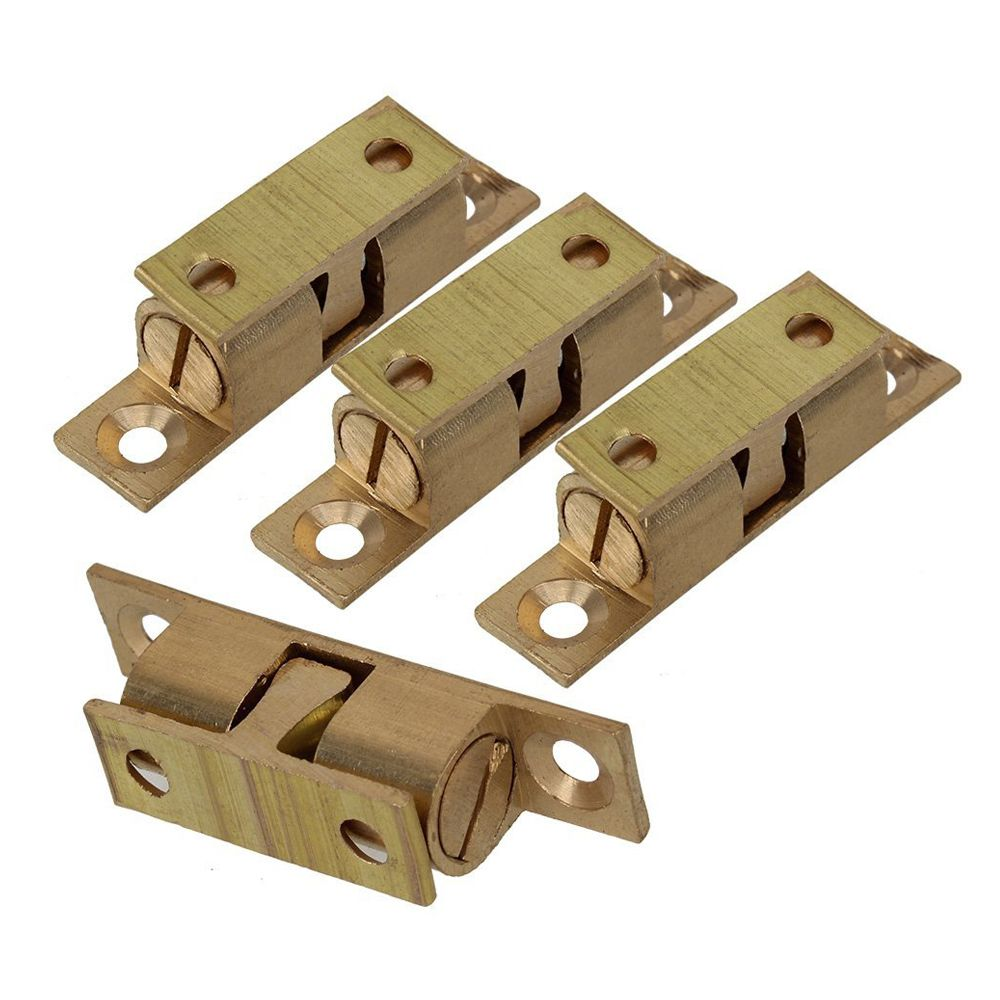 Hhtl 4 Pcs Brass Furniture Door Closure Door Stop Cabinet Fittings Kitchen Cabinet Assembly 5cm Wood Furniture Diy Furniture Accessories Fitted Furniture