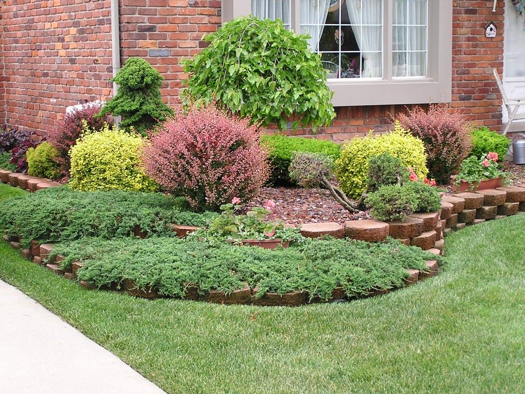 Landscaping Ideas Garage Area : Ideas for small front yard charming landscaping garage area
