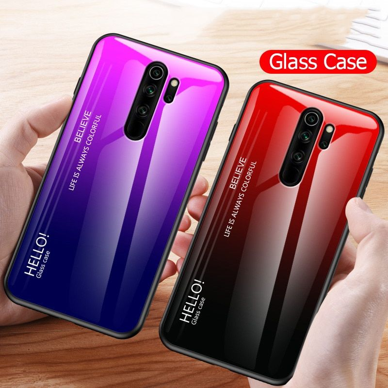 For Xiaomi Redmi Note 8 Pro Gradient Soft Silicone Frame Cover Gadgets For Dad Case Phone Case Cover