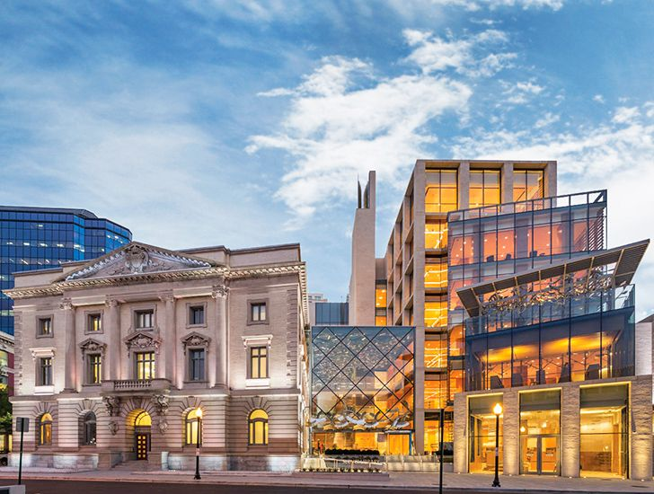 Newman architects 39 slover library blends old and new in for Architects norfolk