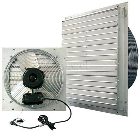 12 Inch Shutter Fan With Cord Indoor Outdoor 3 Speeds 119 00 Outdoor Shutters Aluminum Shutters Exhaust Fan