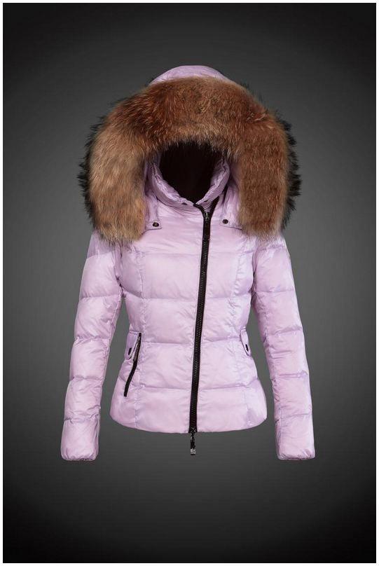 buy online 6c051 b2d50 Moncler Y 15 Fell Kapuze Daunenjacke für Frauen in Rosa ...