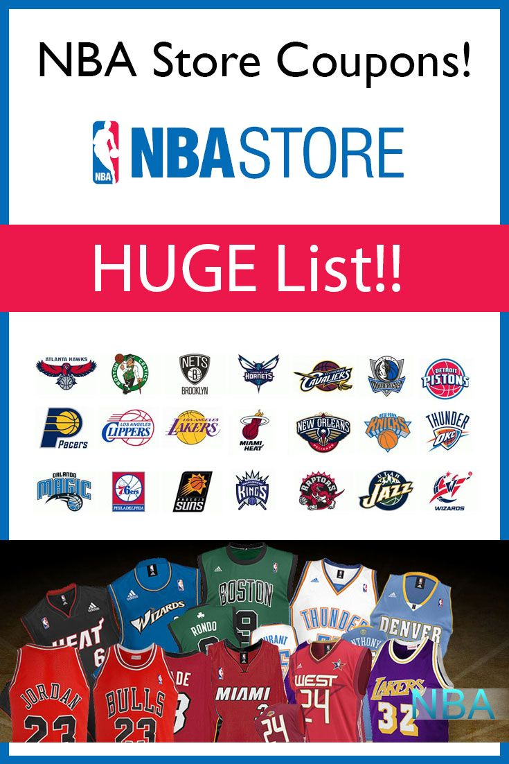a7b29a7e6560c NBA Store promo codes and deals. Huge list of all the current coupons found  around the internet.