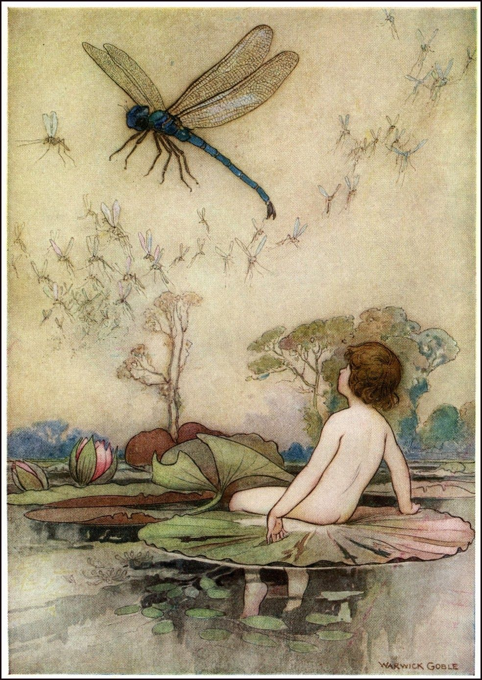 By Warwick Goble 1862 1943 From The Water Babies 1924
