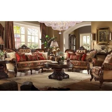 Best 2 Piece Traditional Hd 272 Living Room Set Burgundy 400 x 300